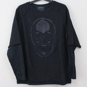 AllSaints Skull Limits Sweatshort Sweater J237